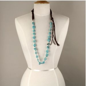 Faux Turquoise Stone Necklace
